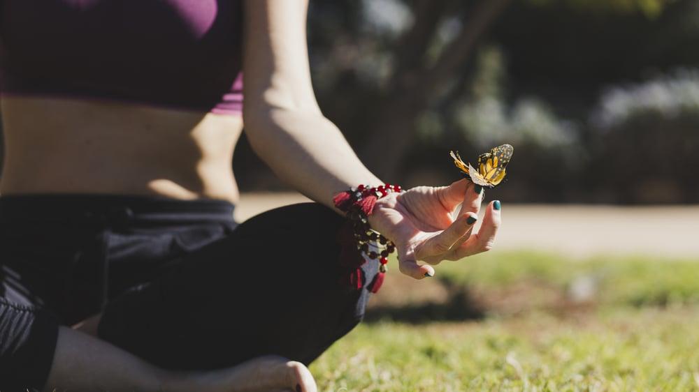 ヨガ 蝶々